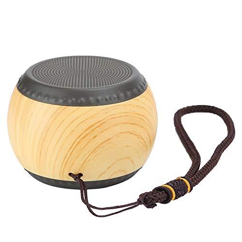 Estink Retro Bluetooth Speaker,Wooden Drum Mini Subwoofer,Smart Computer Mini Speaker,Wood Grain Shell,Simple And…