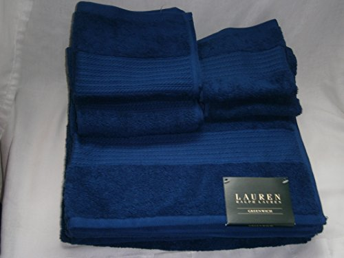 Ralph Lauren Greenwich Marine Blue 6 piece Towel Set (Navy) by Polo Ralph Lauren