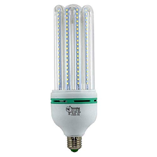 BOMBILLA LED 5U TUBO E27 40 W (4000K) 46459: Amazon.es: Iluminación