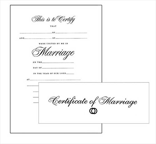 Certificate-Marriage w/Envelope