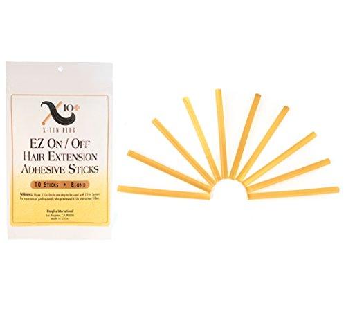 - Fusion Hair Extension Keratin Glue Sticks by The Hair Shop - Professional Hair Adhesive Sticks for Extension Glue Gun (Blonde)