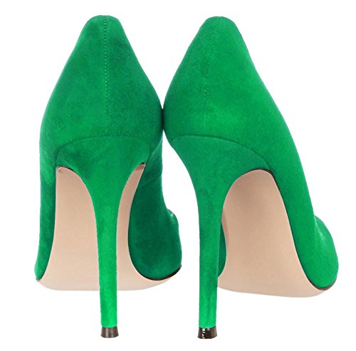 Dress Green Heel Court EDEFS On Office Pointed High Toe Pumps Womens Shoes Slip qv7wSv