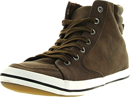 Arider Mens Ar5011 Fashion Classic High Top Lace Up Sneaker Comfort Casual Shoe,Color:BrownB,Size:7.5