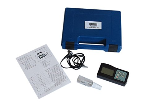 Ultrasonic Thickness Tester (BYQTEC TM-8812 1.2~200mm 0.05-8inch Measuring Range Hard Materials Corrosion Tester Monitor Gauge Ultrasonic Thickness Measuring Meter)