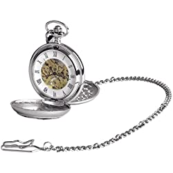 Woodford Men's Mechanical Pocket Watch with White Dial Analogue Display 1951/SK