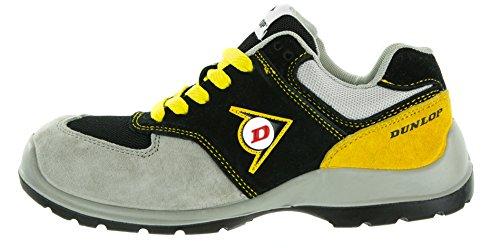 Dunlop Flying Arrow Veiligheidsschoenen Werken Schoen S3 Met Neus, Atletisch En Ademend, Verschillende Kleuren. + Ace Schu Tas Gratis Grijs / Zwart / Geel