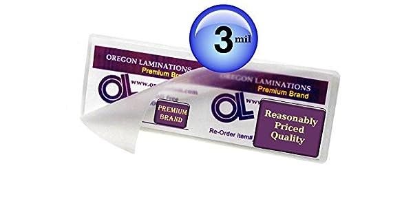 Amazon.com: Oregon laminación Hot Laminating Pouches 1/3 ...