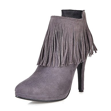 Dress Pointed 10 For CN42 Booties Casual Boots Winter EU41 Stiletto Shoes 5 Toe US9 Heel Boots Almond Ankle RTRY Boots Zipper Women'S Fashion 8 5 Leatherette Tassel UK7 wBUxpzaq