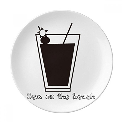 Sex On The Beach Cocktail Dessert Plate Decorative Porcelain 8 inch Dinner Home by DIYthinker