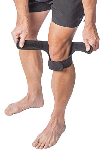 "Cho-Pat Dual Action Knee Strap – Provides Full Mobility & Pain Relief For Weakened Knees – Black (Medium, 14""-16"") by Cho-Pat (Image #7)"