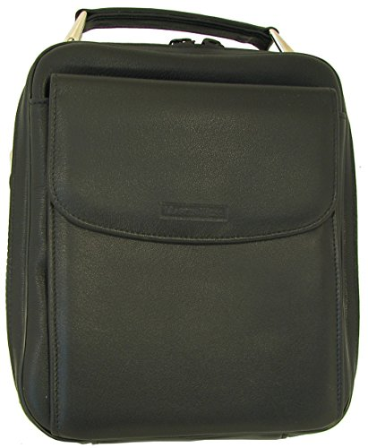 Martin Wess Germany ''Lea'' Soft Lamb Nappa Leather 6 Pipe Bag Case with Office Compartment by Martin Wess