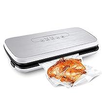 Primacc Fresh Foodsaver Vacuum Sealer with Food Grade Starter Bags (White)