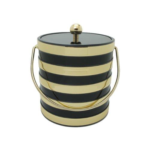 Black 3 Qt Ice Bucket (Mr. Ice Bucket Barrel 3-Quart Ice Bucket, Black)