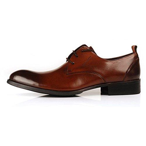 Fulinken Hommes Bicolore En Cuir Formel Chaussures Habillées Chaussures Oxford Classique Hommes Chaussures Marron