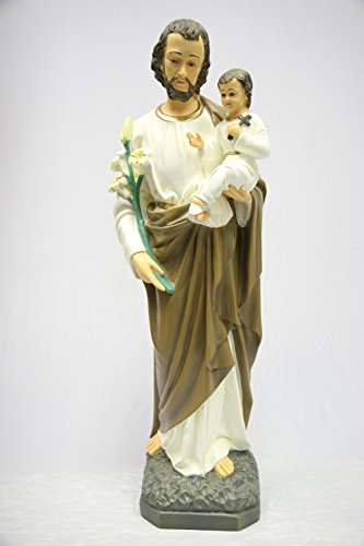 32'' Saint Joseph with Jesus Baby Holy Child Catholic Statue Sculpture Religious Vittoria Collection Made in Italy by Vittoria Collection