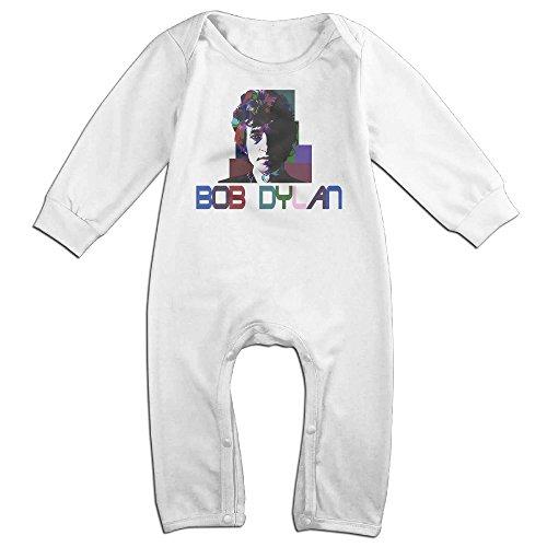 KIDDOS Baby Infant Romper Bob Dylan Long Sleeve Jumpsuit Costume,White 12 (Bob Dylan Costume)