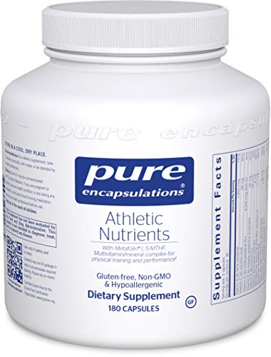Pure Encapsulations - Athletic Nutrients - Multivitamin/Mineral Complex for Exercise Performance and Training* - 180 Capsules