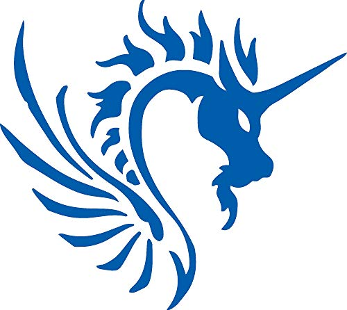 Tribal Dragon Art (Azure Blue) (Set of 2) Premium Waterproof Vinyl Decal Stickers for Laptop MacBook Phone Tablet Helmet Car Window Bumper Mug Tuber Cup Door Wall Decoration