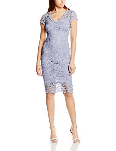 Donna Vestito Lace Crochet Blu Paper Blue Dolls SqFfPqc7
