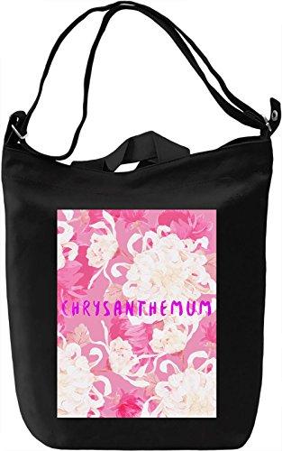 Chrysanthemum Borsa Giornaliera Canvas Canvas Day Bag| 100% Premium Cotton Canvas| DTG Printing|