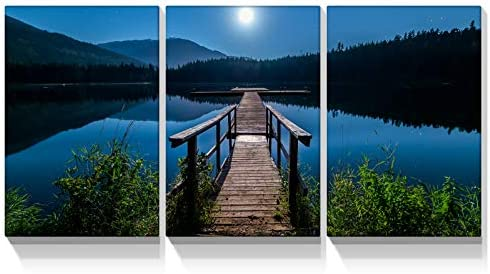 Looife 3 Panels Landscape Canvas Wall Art