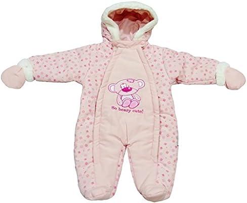 966b1024b2d7 Amazon.com  Nursery Time Baby Girl Snowsuit Pink Infant 0-3 Months ...