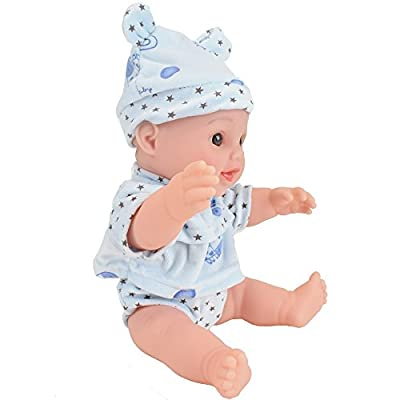 12 inches toy baby dolls for kind and boy (blue)