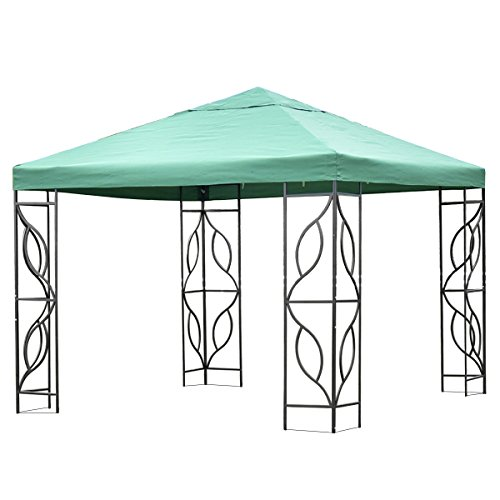 Tangkula 10'x10' Gazebo Canopy Tent Patio Outdoo Wedding Party Tent Green