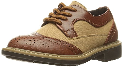 Kenneth Cole REACTION Boys' Take Fair 2-K Oxford, Cognac, 9 M US Toddler
