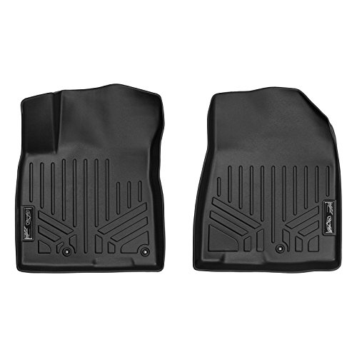 SMARTLINER Floor Mats 1st Row Liner Set Black for 2017-2018