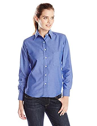 Red Kap Women's Oxford Dress Shirt, French Blue, 2