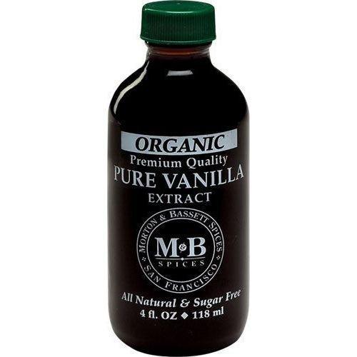 Morton and Bassett Organic Pure Vanilla Extract, 4 Ounce -- 3 per case. Morton Ice Cream Salt