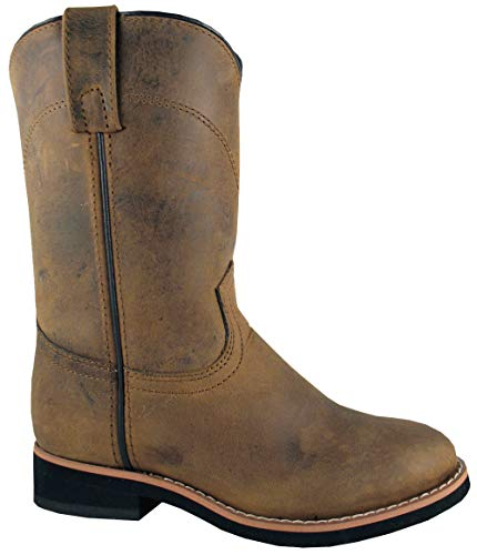 (Smoky Mountain Kids Western Muskogee Boots - Oiled Distress Brown Child 10)