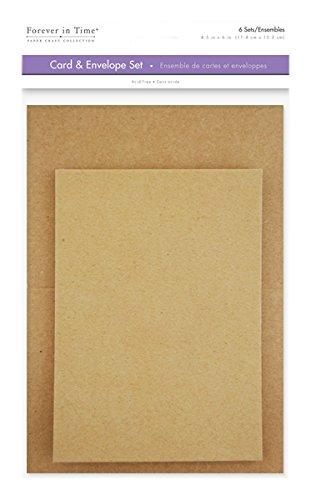 [해외]Forever in Time CM600F A6 Cards & Envelopes 6 Sets 4.5in x 6in Natural / Forever in Time CM600F A6 Cards & Envelopes, 6 Sets, 4.5in x 6in, Natural