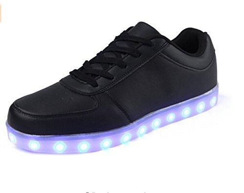(présent: Petite Serviette) Club Junglest® Usb Unisexe Femmes Hommes Charge 8 Couleurs Conduit Chaussures De Sport Noir Clignotant Fashio