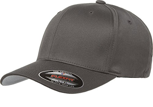 Flexfit Men's Athletic Baseball Fitted Cap, Dark Gray, Extra Large