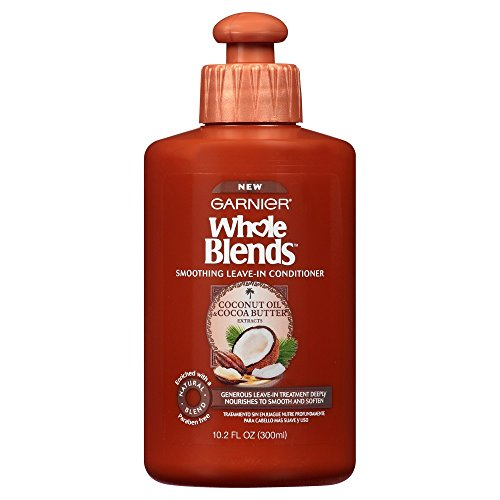 Garnier Whole Blends Leave-In Conditioner with Coconut Oil & Cocoa Butter Extracts, 10.2 fl. oz. (Herbal Leave Conditioner In Essences)