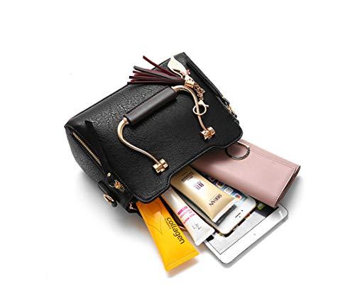 Unicolor Spalla Lmpermeabile Borse Secchiello Borse Vintage Borse Accessori Borse Classica Xiuy Messenger Fashion Black Classici Personalizzati Borse Lavoro Donna Da Mano a Metallo Borse qAxwE6x4