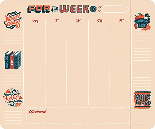 High Note Weekly To-Do with Notes-To-Go Weekly To-do Pad (w/Magnet): Handy Non-Dated Weekly Tear Off Sheets Featuring Unique, Original, Designer Art by Jill De Haan (CHT0312)