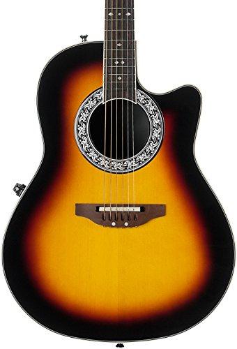 (Ovation Signature Collection 6 String Acoustic Electric Guitar, Right, Sunburst (1771VL-1GC))