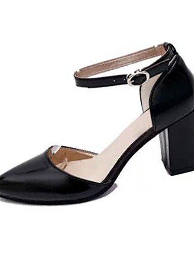 GGX/ Damenschuhe-High Heels-Lässig-PU-Blockabsatz-Absätze-Schwarz / Rosa / Grau / Schwarz und Weiss gray-us6 / eu36 / uk4 / cn36