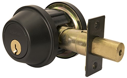 Ansi Grade Locks (Master Lock DSCHDD10B Heavy Duty Double Cylinder, Grade 2 Commercial Deadbolt with Bump Stop, Oil Rubbed Bronze Finish)