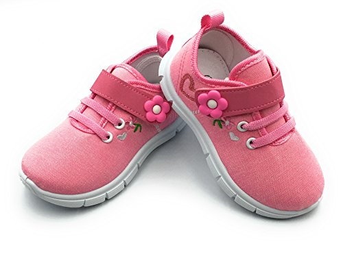 Bless Children Baby Toddlers Boy's Girl's Breathable Fashion Sneakers Walking Running Shoes,Pink1206.Size 9