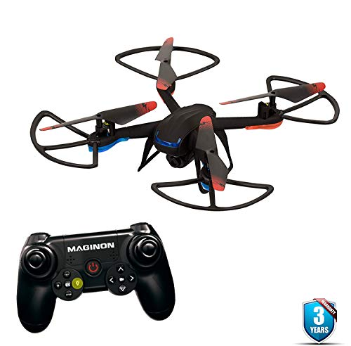 Cheap Maginon QC-50S RC Quadcopter Drone 720P HD Camera 360° Flip Ability 6-Axis Gyroscope for Stable Flights 3 Flight Mode for Beginners to Experts