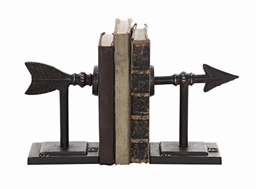Creative Co-Op DA4199 Set of 2 Cast Iron Arrow (Rustic Bookends)