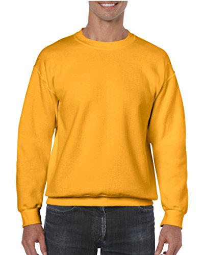 Gildan Men's Heavy Blend Crewneck Sweatshirt - Large - Gold -