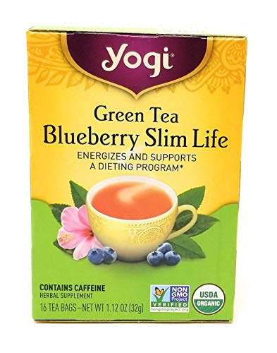 (Yogi Tea Green Tea Blueberry Slim Life, Herbal Supplement, Tea Bags, 16 ct, 2 pk)