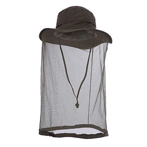 Outdoor Anti-Mosquito Mask Hat with Head Net Mesh Face Protection Jungle Collecting Honey Hiking