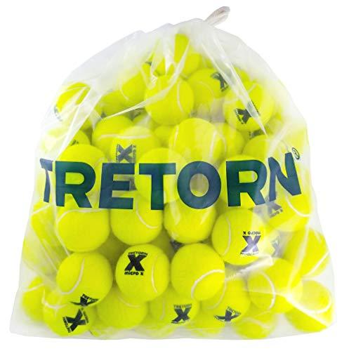 Tretorn Micro-X (Yellow) Pressureless Tennis Balls (Bag of 72 - 72 Ball Bucket