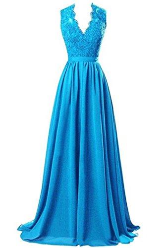 CoutureBridal - Vestido - corte imperio - para mujer azul oscuro
